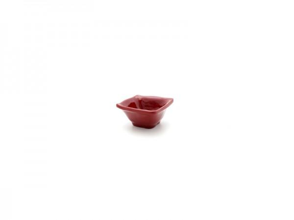 Ruffle Square Mini Dipschale in rot