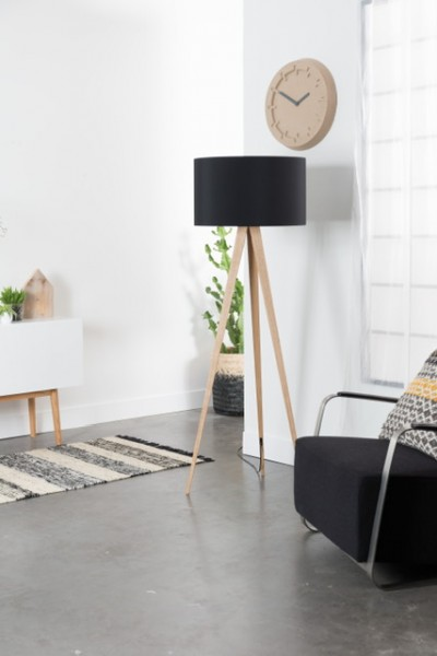 Floor Lamp Wood black