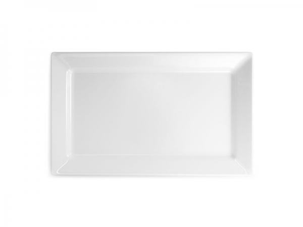 Melamin Diamond Platte 44 x 27 cm, weiß