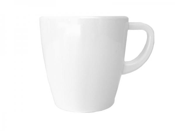 Melamin Kaffeebecher 300 ml, weiß
