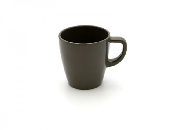 Melamin Kaffeebecher 200 ml, schlamm