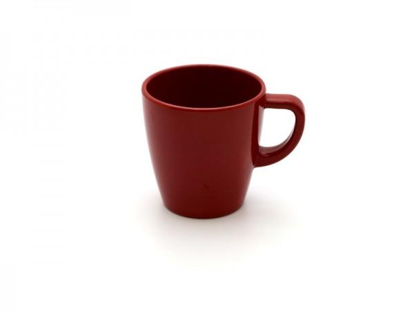 Melamin Kaffeebecher 200 ml, rot