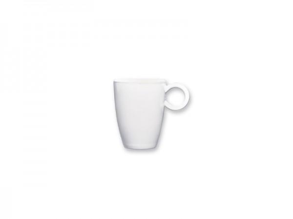 Melamin Espressoobertasse, weiß