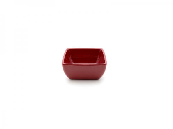 Melamin Diamond Schüssel 9 x 9 cm, rot