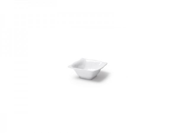Ruffle Square Mini Dipschale in weiß