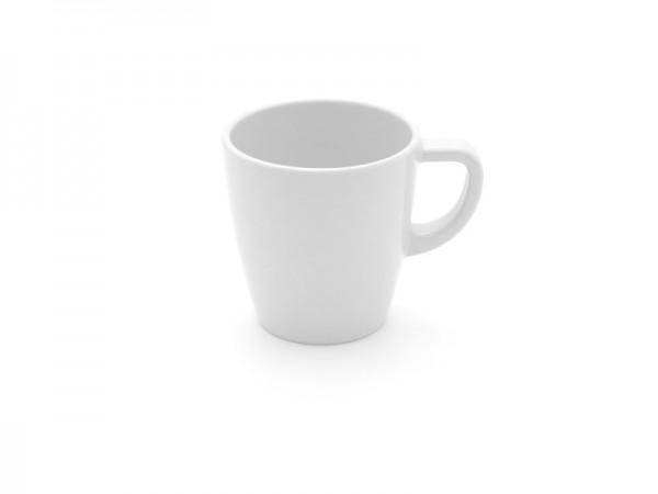 Melamin Kaffeebecher 200 ml, weiß