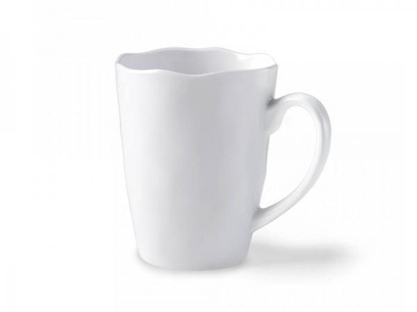 Melamin Kaffeebecher Ruffle 350 ml, weiß